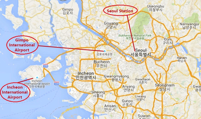 Seoul Airport Map Location
