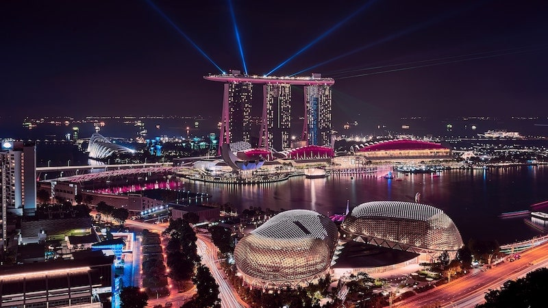 Singapore Marina Bay Sands Light show