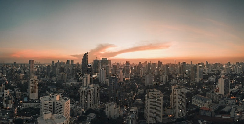 aerial photography of high-rise buildings in Bangkok Thailand
