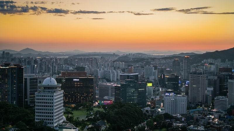 Myeongdong skyline view, Seoul South Korea